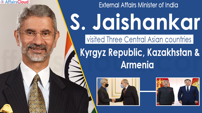 S Jaishankar visited three Central Asian countries -