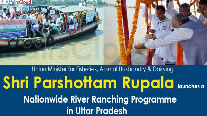 Shri Parshottam Rupala launches a nationwide River Ranching Programme in Uttar Pradesh
