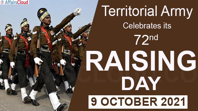 Territorial Army celebrates its 72nd Raising Day