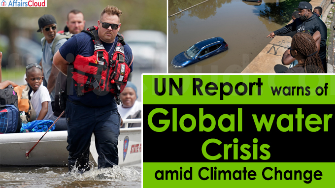UN report warns of global water crisis amid climate change