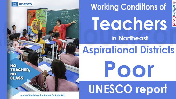 Working conditions of teachers in Northeast