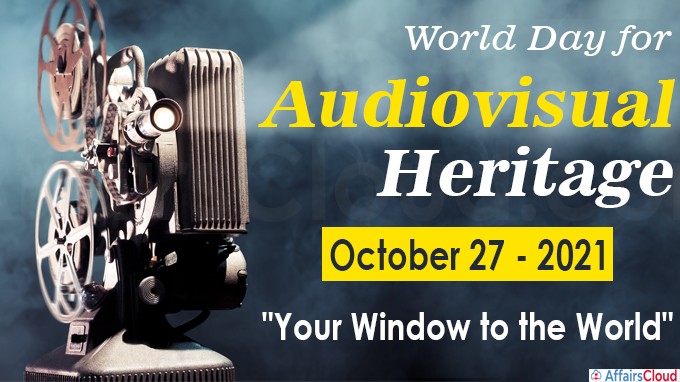 World Day for Audiovisual Heritage 2021